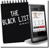 Черный список в мобильном телефоне